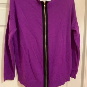 Purple cashmere and wool sweater from Nordstrom